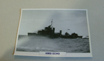 1934  HMS Echo Destroyer warship framed picture